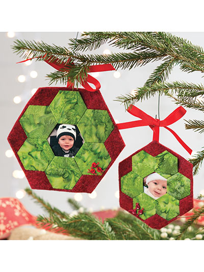 Holiday Heritage Hex Ornaments Pattern