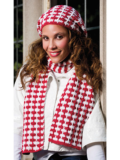 Houndstooth Scarf & Hat