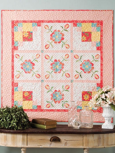 Quilted Roses Wall Quilt