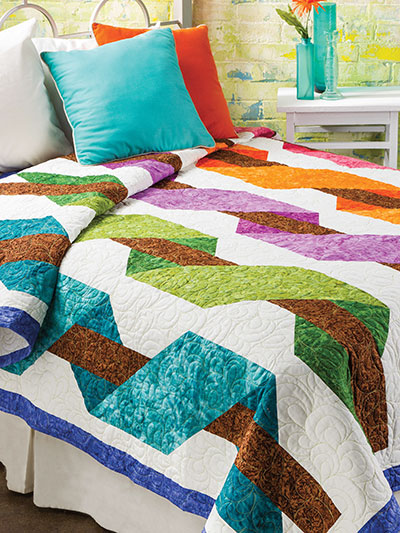 Ribbon Play Bed Quilt