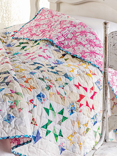 Triangle Triumph Bed Quilt
