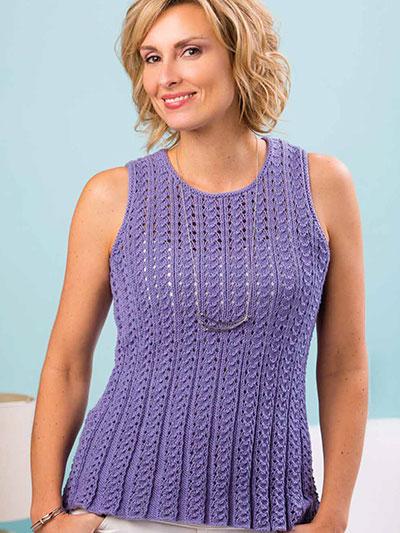 Knitting Knit Clothing Patterns For Tops Marietta Tank