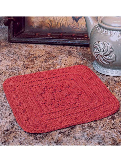 Bobbles-in-a-Square Hot Pad