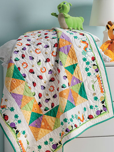Leif the Caterpillar Baby Quilt