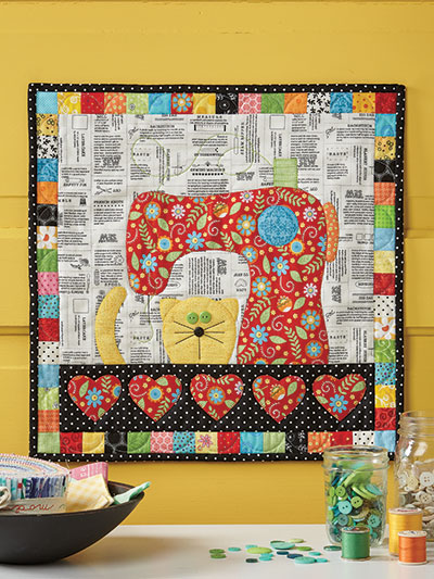 Purrfect Day Wall Hanging Quilt Pattern