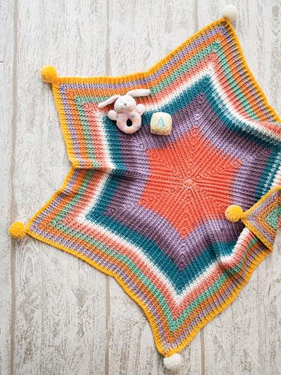 Crocheted Star Baby Blanket