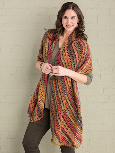 Shades of Autumn Wrap Crochet Pattern