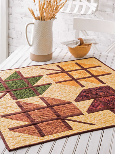 Stained Glass Leaves Quilt Pattern