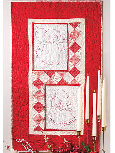 Angels in Red Quilt Pattern