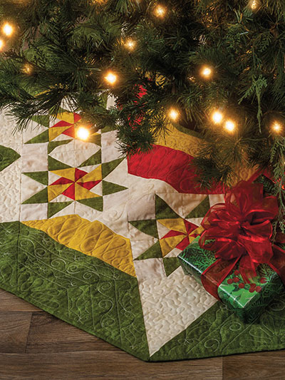 Twinkling Tree Skirt Quilt Pattern
