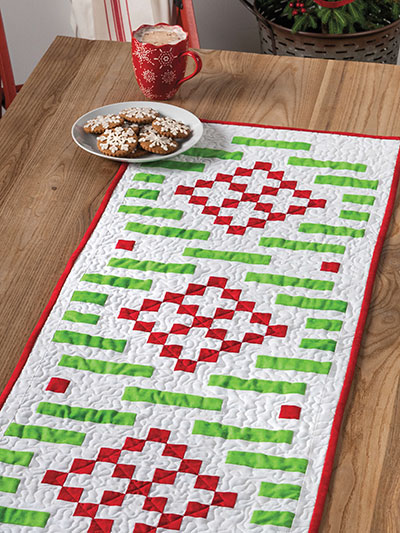Bargello Nine-Patch Wreath Table Runner Quilt Pattern