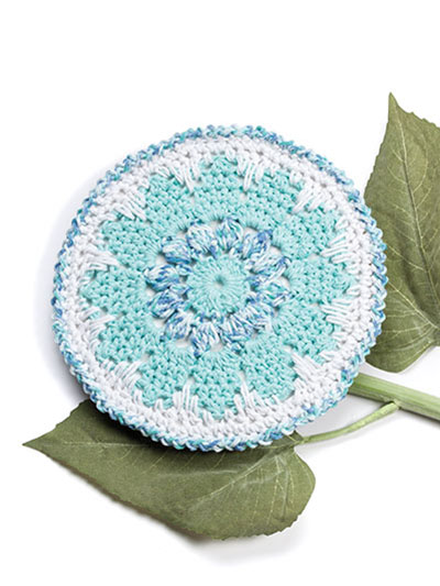 Speckled Floral Dishcloth Crochet Pattern