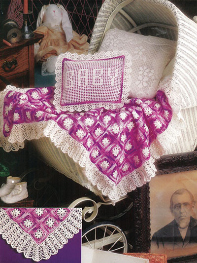 Carriage Cover & Pillow Crochet Pattern
