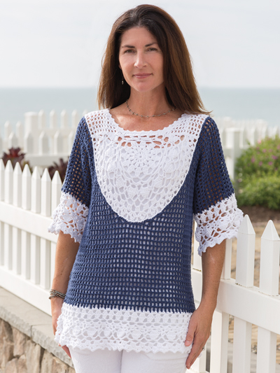 ANNIE'S SIGNATURE DESIGNS: Seacliff Tunic Crochet Pattern