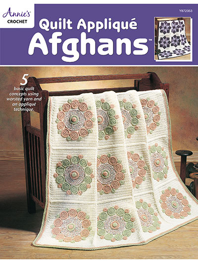 Quilt Applique Afghans Crochet Pattern