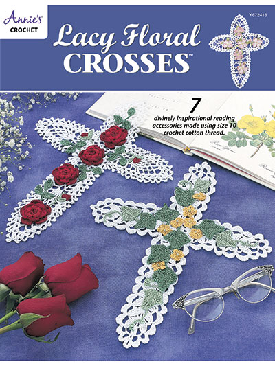 Lacy Floral Crosses Crochet Pattern