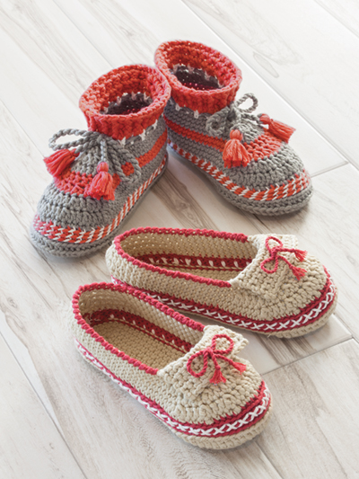 ANNIE'S SIGNATURE DESIGNS: Adult Moccasin Slippers Crochet Pattern