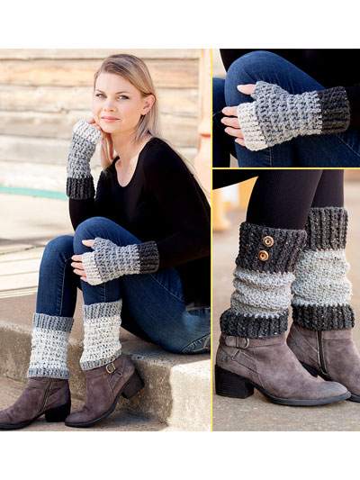 ANNIE'S SIGNATURE DESIGNS: Rustic Mitts & Boot Toppers Crochet Pattern