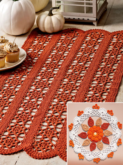 Fall Splendor Doilies Crochet Pattern