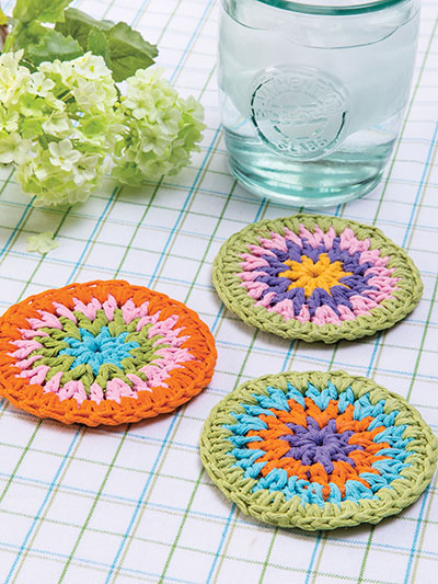 Ring Around Coasters Crochet Pattern