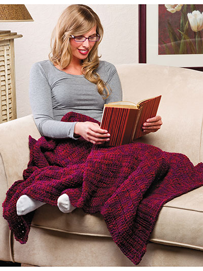 Shades of Wine Lapghan Crochet Pattern