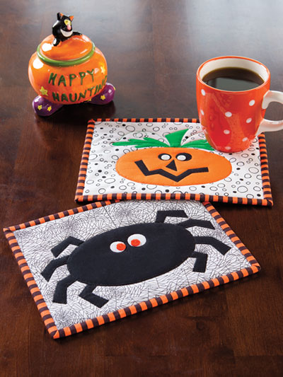 Spooked Mug Rugs Quilt Pattern