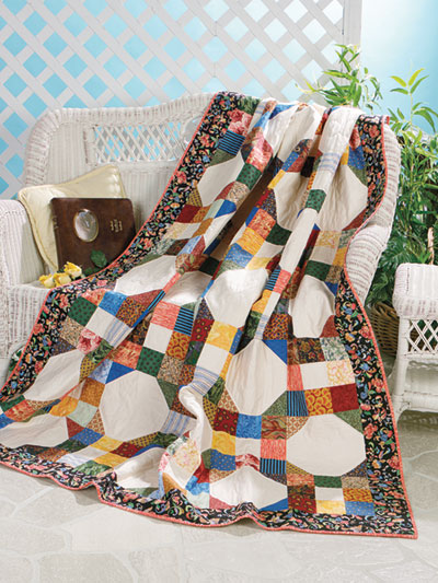 Nine Patch Wedding Ring Quilt Pattern