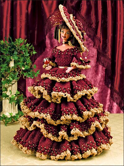 Amigurumi Christmas Tree Pattern Free : Crochet - Dolls & Toys - Wine and Roses Doll Dress
