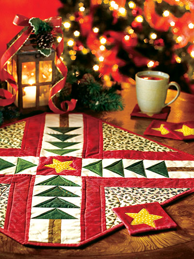 Tree Time Table Setting Quilt Pattern