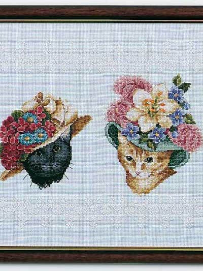 Cats in Floral Hats