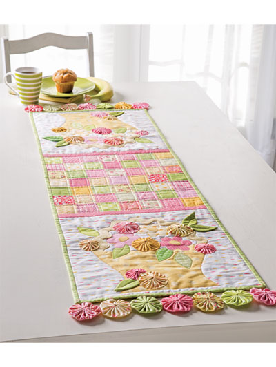 Flower Basket Table Runner Quilt Pattern