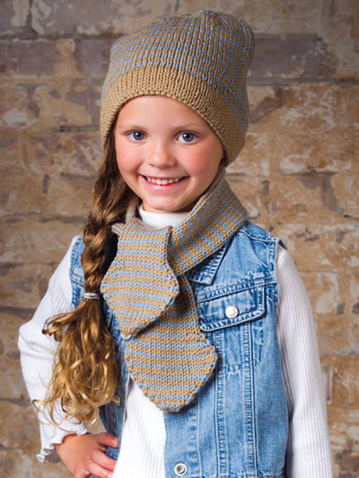ANNIE'S SIGNATURE DESIGNS: Cambridge Cap & Scarf Knit Pattern