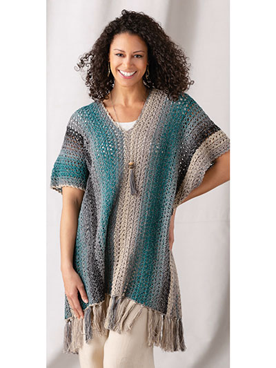 Twisted Chain Poncho Crochet Pattern