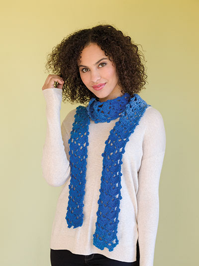 Twirly Tweed Trio of Scarves Crochet Pattern