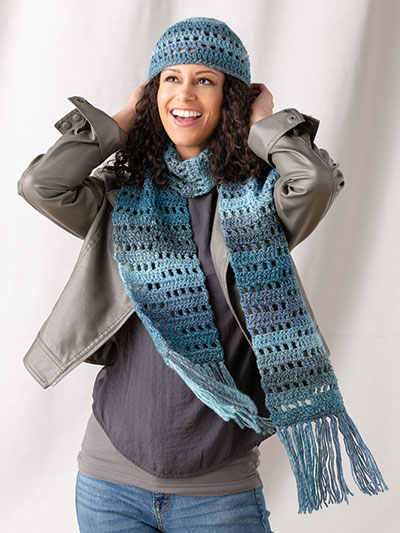 Jenga Hat & Scarf Set Crochet Pattern