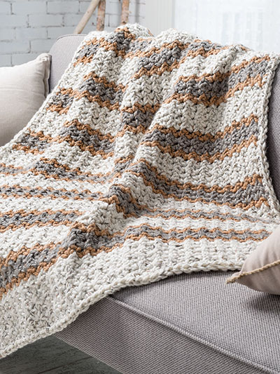 Speedy Stripes Throw Crochet Pattern