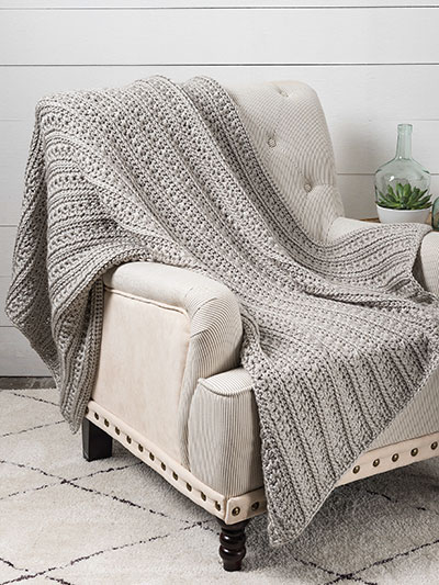 Star Stitch Panels Throw Crochet Pattern