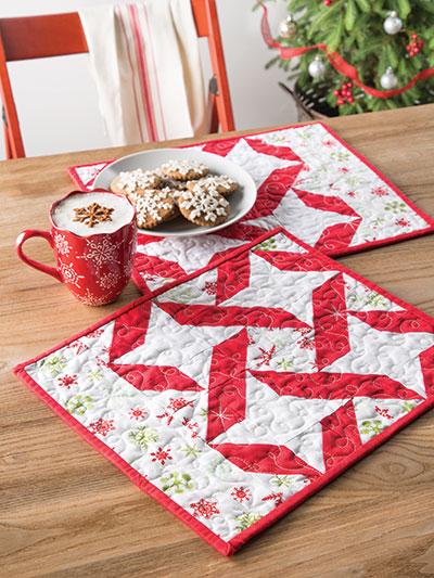 Christmas Stars Place Mats Quilt Pattern