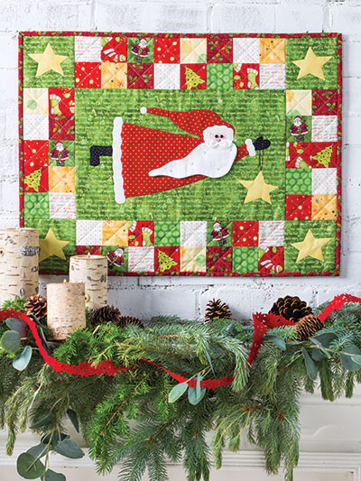 Flying Santa Wall Hanging Quilt Pattern