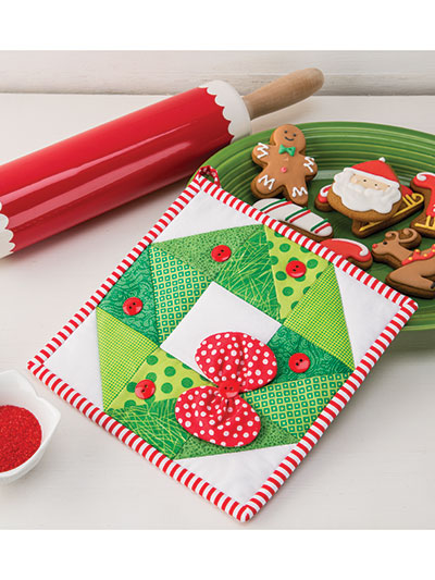 Holiday Wreath Pot Holder Quilt Pattern