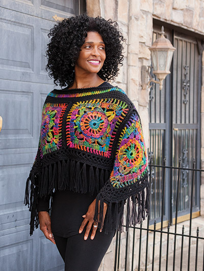 ANNIE'S SIGNATURE DESIGNS: Peace Out! Poncho & Headband Crochet Pattern