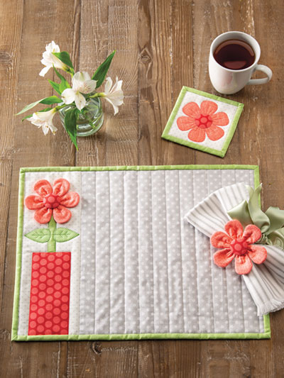 EXCLUSIVELY ANNIE'S: Freshly Picked Table Set Quilt Pattern