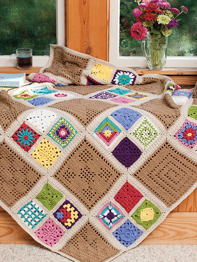 Afghan of Many Colors Crochet Pattern