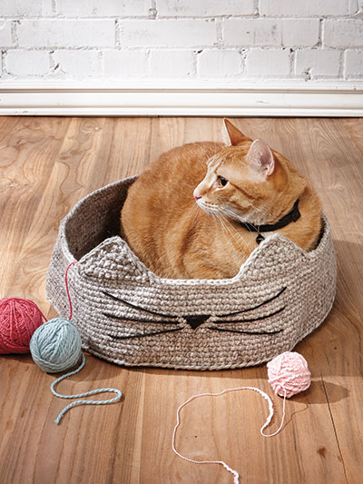 Cute & Cozy Cat Basket Crochet Pattern