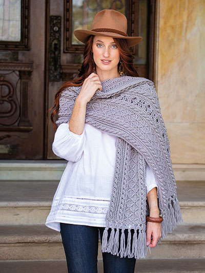 Celtic Diamond Wrap Crochet Pattern