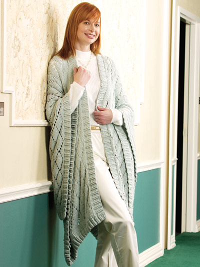 Diamond Ruana Crochet Pattern