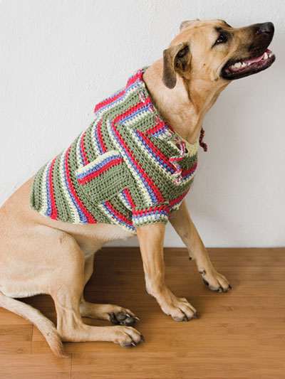 Pocket Hoodie Dog Sweater Crochet Pattern