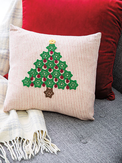 Country Christmas Pillow Crochet Pattern