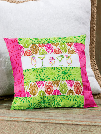 Summer Cocktail Pillow Quilt Pattern