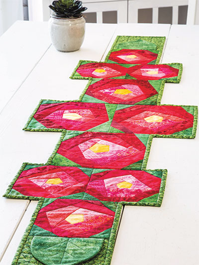 Rose Garden Table Runner Quilt Pattern
